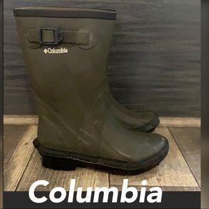 Authentic Columbia Rubber rain boots sz boys 4